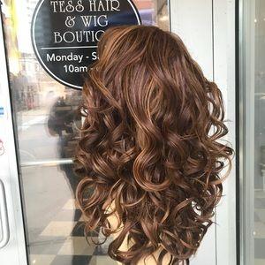 Accessories - Wig reddish copper brown Lacefront Romance Curl